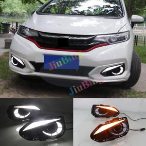 For Honda Fit 2018-2019 Eagle Eye Fog Lamp DRL Daytime Running Light White w/y .
