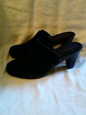 Sonoma. Black suede  women's beautiful slip on heels/mules. Size  8 1/2 M. 😎 😎
