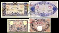 2x 50, 100, 500 ,1000 Fr. - Edition 1888 - 1937 - Reproduction - 17