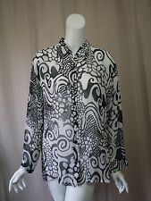 Chico's 100% Silk Print Blouse Top size 2