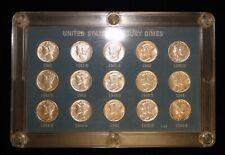 New listing 1941-1945-S Mercury Dime 15 Coin Short Set
