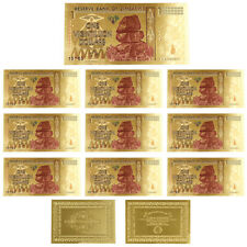 10pcs Zimbabwe Gold Banknote One Vigintillion Dollar 24k Gold Foil Banknote
