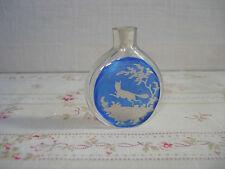 Petit Flacon  Cristal de Bohême Décor Renard  - Antique miniature Scent Bottle