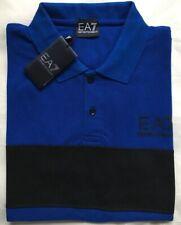 Men's Emporio Armani EA7 Short Sleeve Polo Shirt Blue Size-XL RRP £75