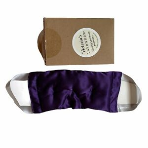 Eye Pillow Lavender Eye Mask Luxury Aromatherapy Silky Purple Material Hot Cold
