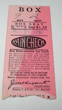 1936 Newark Bears Baseball International League Yankees Ticket Jacob Ruppert v2