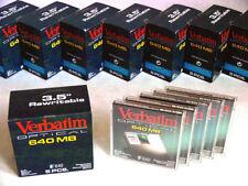 "LOT 5x 640MB SEALED 3.5"" VERBATIM Magneto Optical Media Disk #91250 DICOM Disc"