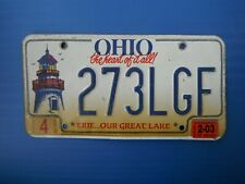 2003 Ohio License Plate Tag