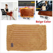 12V Car Heated Seat Cushion Electric Heating Blanket Winter Warm Soft Washable