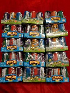 Soda Can Fizzy Candy KIDSMANIA Soda Can Candy Assorted Flavors  - 15 Packs of 6.