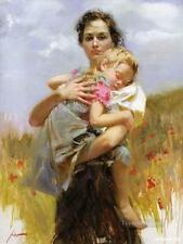 """Pino Daeni,Hand-painted Portrait oil Painting On Canvas 24x36""""#026/Unframed"""