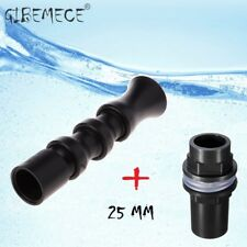 Flexible Water Outlet + BulkHead  Pipe Fitting Connector 25mm To Aquarium Marine