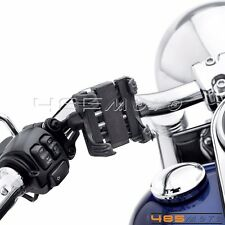 Motorcycle Handlebar Cell Phone Holder GPS MP3 Bracket For Harley Davidson Black