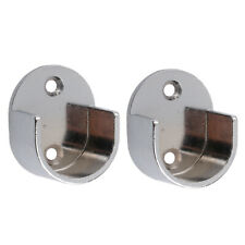 PACK 4 Curtain Wall Pole Bracket Window Rail Support Wall Mounted #25mm