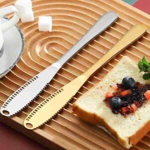 Stainless Steel Butter Knife Serrated Edge Cheese Slicer Curler& Butter Spreader