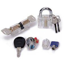 GOAMO 4pcs lock picking tools Transparent Visible Practice Kit Padlock Door L...