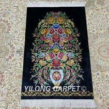 YILONG 2'x3' Hand Knotted Silk Area Rug Home Decor Indoor Oriental Carpet Z204A