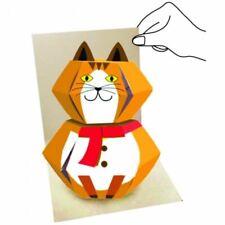 3D Pop up Animal Greeting Card - Cat