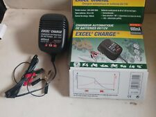 Tecmate EXCEL Charge 600 6v/12v 600Ma Battery Charger - EU 2 pin model
