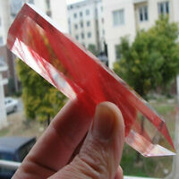 NEW Rare Pretty Red Quartz Crystal single Terminated Wand Healing Specimen