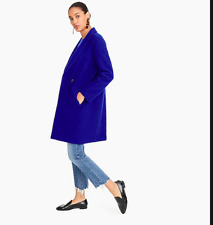 J. CREW ROYAL COBALT BLUE ITALIAN BOILED WOOL TOP COAT JACKET NWT 16