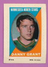 DANNY GRANT NHL HOCKEY STICKER VINTAGE TOPPS OPC O-PEE-CHEE ISSUE UNCREASED CARD