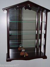 Lenox Shelf Rack Display Wood Mirrored Cabinet for Garden Bird Collection Nice!