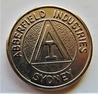 TOKEN Abberfield Industries, Sydney. Br Unc