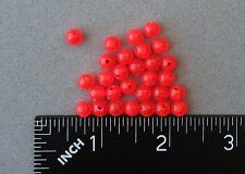 6mm 200 Count Round Fire Red Beads Fishing Tackle Free Shipping
