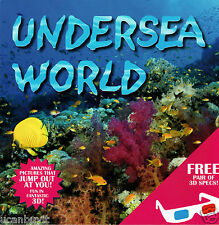 3-D UNDERSEA WORLD Children's Beginners Activity Book w/3D Glasses Ages 3+