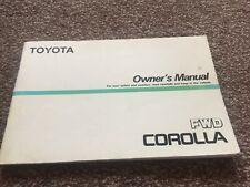Toyota Corolla AE82 GT Twin Cam 16V FWD Owners Manual USED not AW11 AE92 AE86