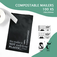100 x COMPOSTABLE MAILER Biodegradable Satchel Post Packaging Bags XS,S,M,L