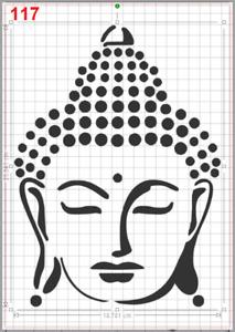 Large Zen Buddha Face Stencil MYLAR A4 sheet strong reusable Craft Art Wall Deco