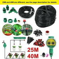 25M/40M Micro Drip Irrigation Watering Automatic Garden Plant Greenhouse System
