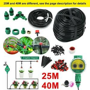 25M/40M Automatic Drip Irrigation System Kit Plant Self Watering Garden Hose UK