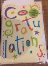 """10 Pack of Greeting Cards, """"Congratulations"""" Sealed Large Size"""