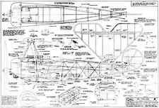 VK FOKKER DR1 TRIPLANE classic R/C SCALE model plans