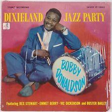 BOBBY DONALDSON: Dixieland Jazz Party SAVOY DG Shrink VAN GELDER NM- Vinyl LP