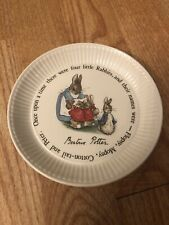 "Vtg PETER RABBIT Wedgwood Etruria & Barlaston #47  6 ""  Plate"