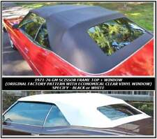 ALL GM FULL SIZE  71-76 CONVERTIBLE TOP+CLEAR VINYL WINDOW - BLACK  HAARTZ VINYL
