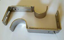 Designer Metals Curtain and Drapery Pole Brackets (Satin Nickel)