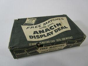 Vintage Matches Lot Anacin Pharmacy Advertising Display Dealer DD Bean & Sons