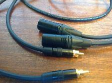 Neutrik XLR, to RCA Van Damme Pro Grade Classic XKE Ultra Pure Silver Plated OFC