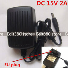 Universal DC15V 2A Power Supply Adapter 100V-240V AC to DC 15V 2000MA Charger EU