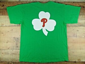 Philadelphia Phillies Green St. Patty's Day T-Shirt by Gildan Men's Large