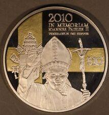 2010 Nauru, Bank of, $10 5th Annv. Pope JohnPaul II Death **FREE U.S. SHIPPING**