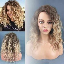 52cm Synthetic Wig Short Blonde Wigs Curly Hairstyle Handmade Heat Resistance UK