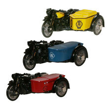 Oxford Diecast Bundle Of 3 BSA Motorcycle & Sidecar - 76BSA001 76BSA002 76BSA003