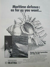 5/1976 PUB MATRA VELIZY MISSILE OTOMAT ANTI SHIP ANTI NAVIRE ORIGINAL AD