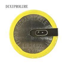 2 PCS/LOT LIR2450 soudage horizontal pied batterie 3.6 V rechargeable coin pile